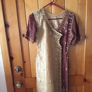Central Asian ethnic dress size M hand made